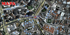 Chácara Klabin - Mapa com a localização do Apartamento Inajá, Inajá Klabin